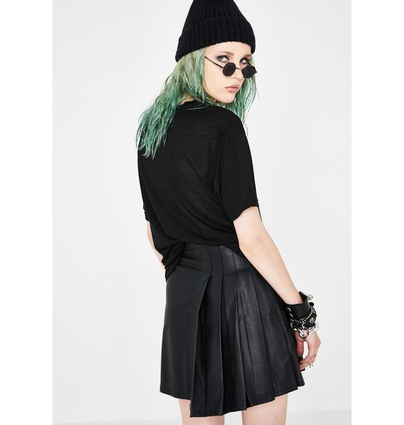 Current Mood Stuck In Detention Pleated Skirt