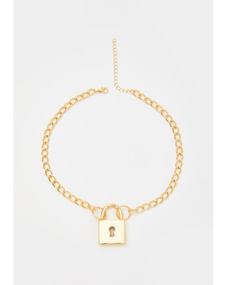 Luxury Lockdown Chain Necklace