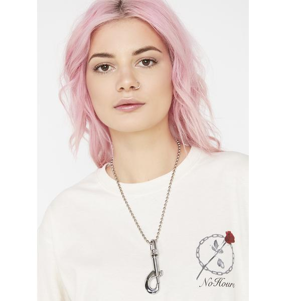 Street Cred Metal Clip Necklace