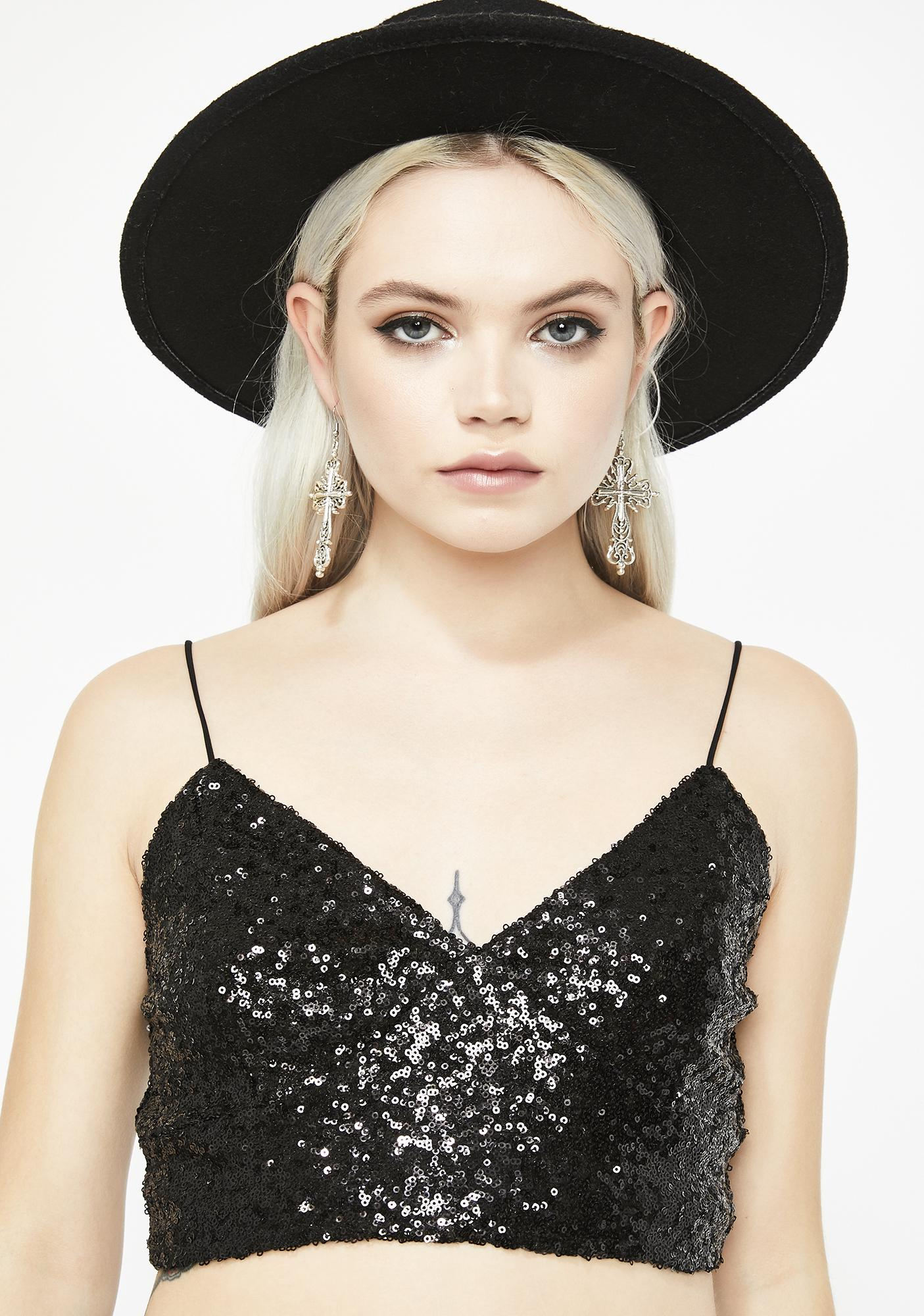 Fun Nights Sequin Top