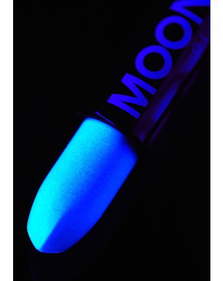 Blue Holographic Glitter Lipstick