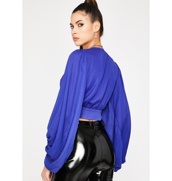 Royal Baby Come Back Crop Blouse