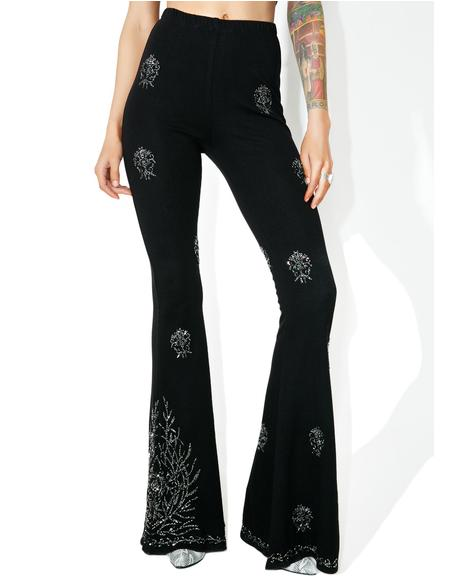 Moonflower Beaded Flares