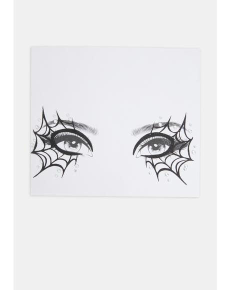 Cobweb Face Stickers