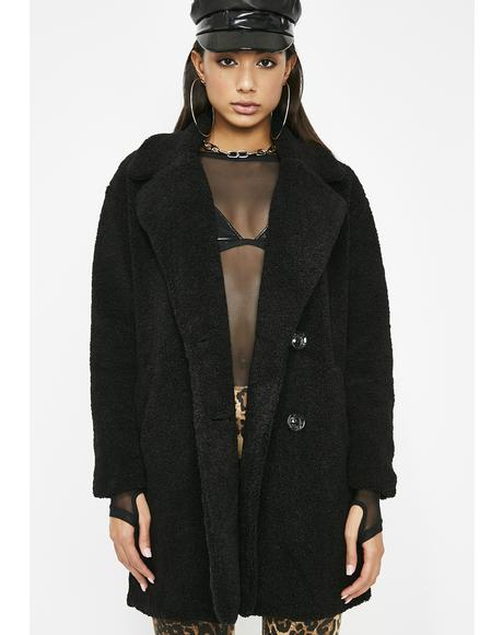 Wicked Uptown Bae Fuzzy Coat