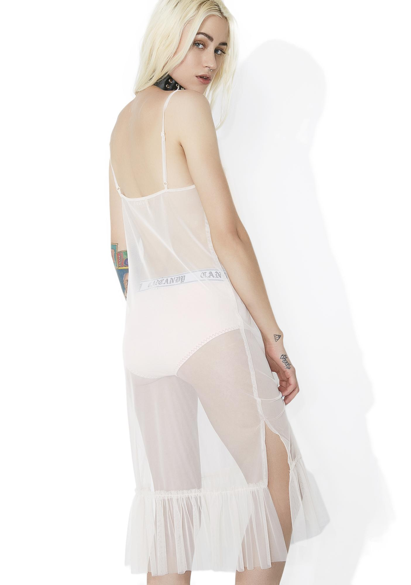 Sleep To Dream Sheer Slip Dress