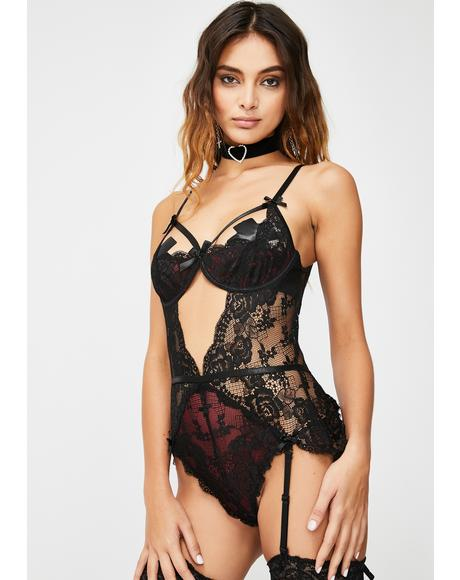 Bad Dreams Lace Teddy