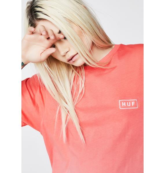HUF Gradient Dip Dye Bar Logo Tee