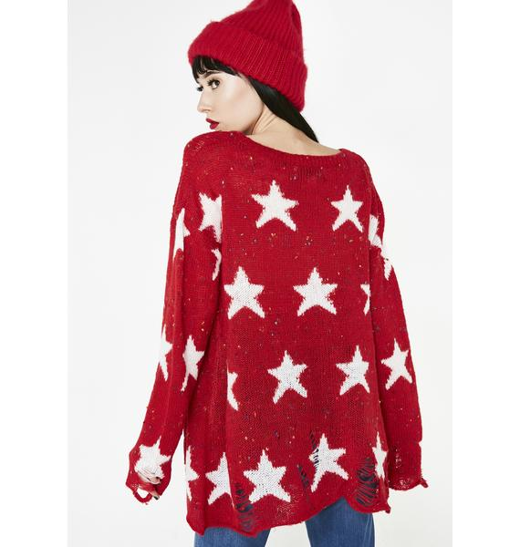 Wildfox Couture Scarlet Seeing Stars Lennon Sweater