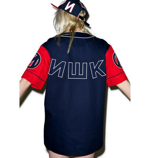 Mishka Varsity Keep Watch Baseball Jersey