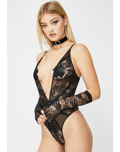 Diamond Desires Lace Teddy
