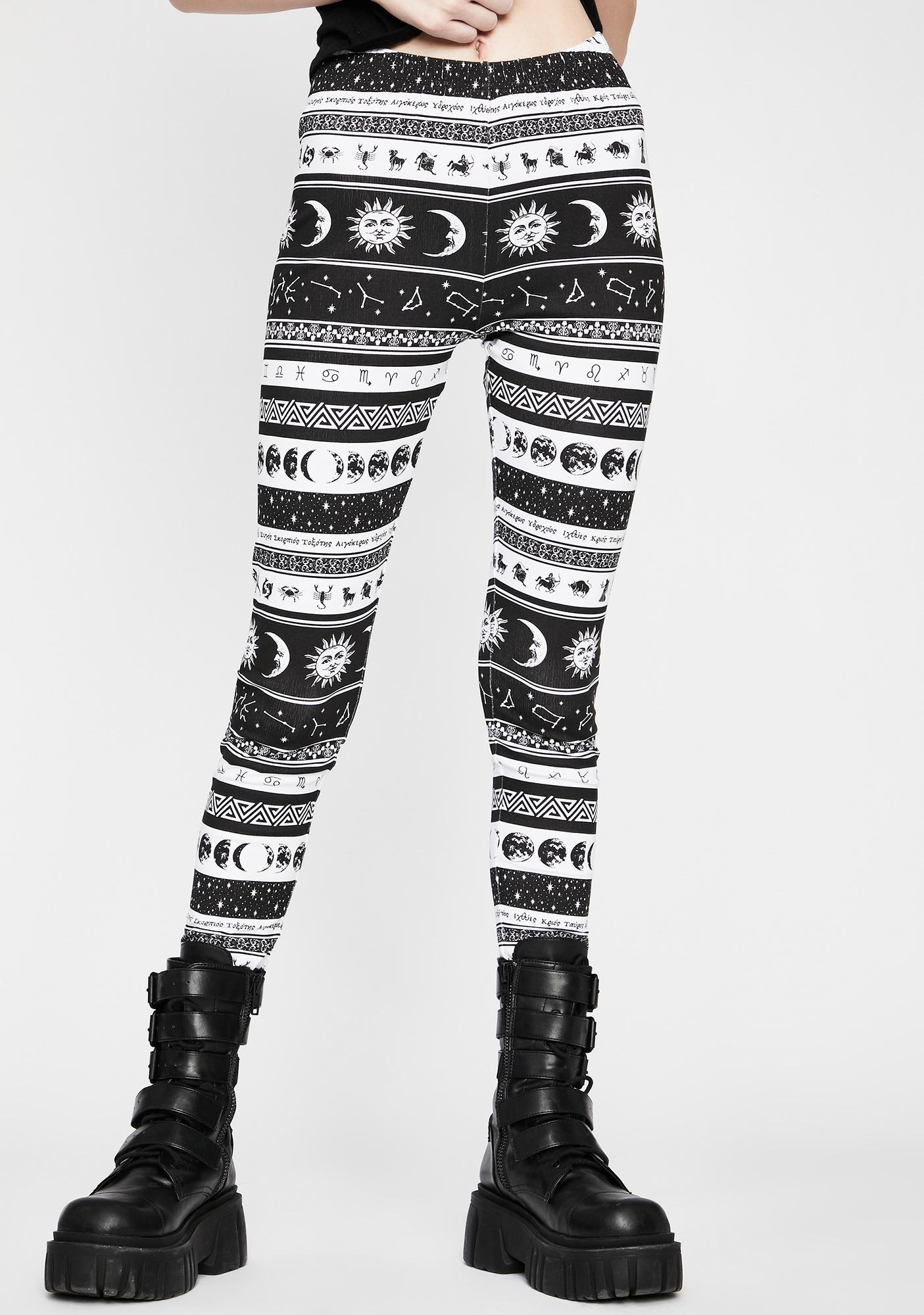 HOROSCOPEZ Divine Dreamcatcher Printed Leggings