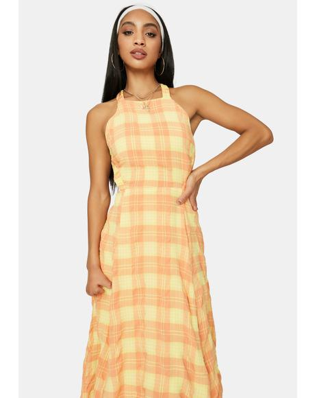 Sunset Dreams Plaid Maxi Dress