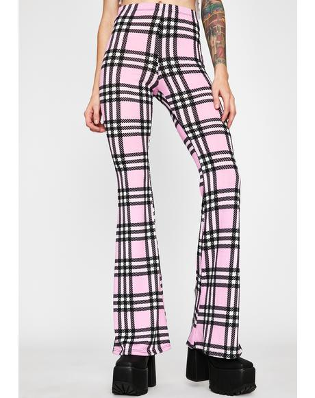 Typical Temptations Plaid Flares