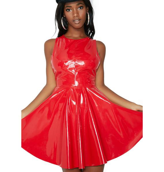 False Alarm Vinyl Dress
