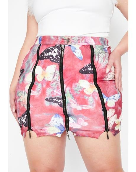 Nuclear Electric Forest Zipper Skirt