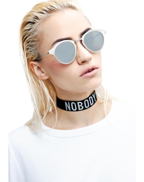 Silver Warp Sunglasses