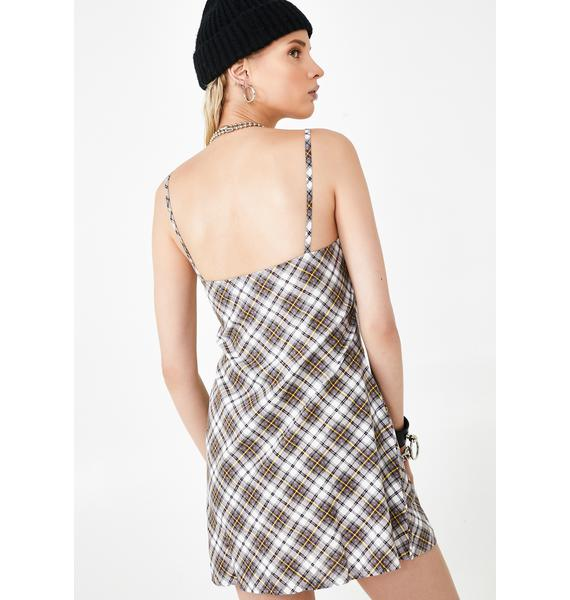 Motel Grunge Check Andin Dress