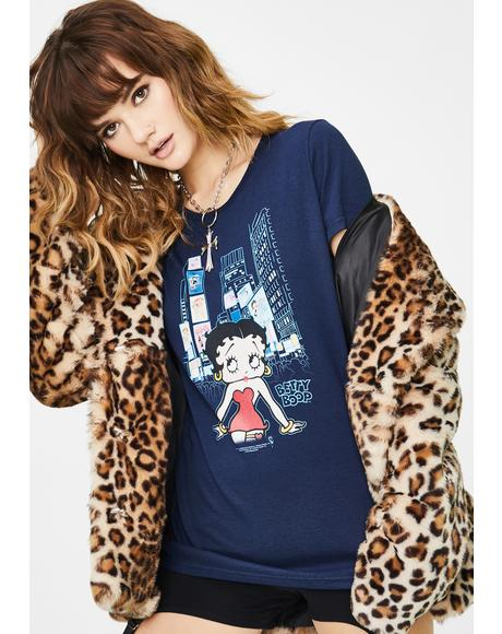 Betty Boop Square Graphic Tee