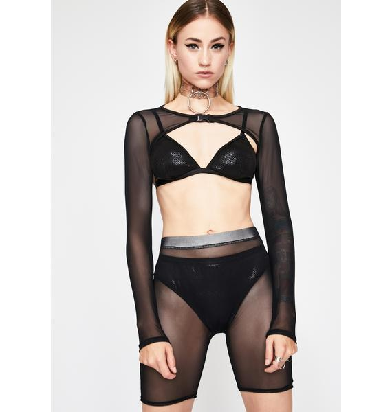 Midnight Trippy Delirium Sheer Set