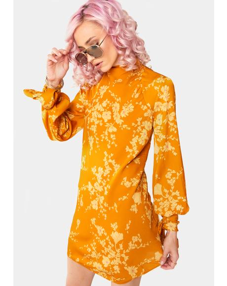 Aries Floral Mini Dress