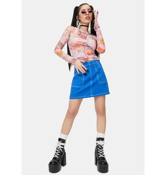 NEW GIRL ORDER Sweet Kitty Mesh Top