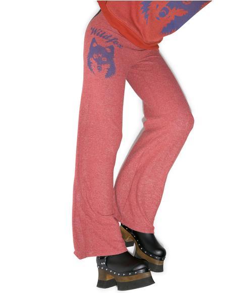 Vintage Wolf Baggy Beach Pants