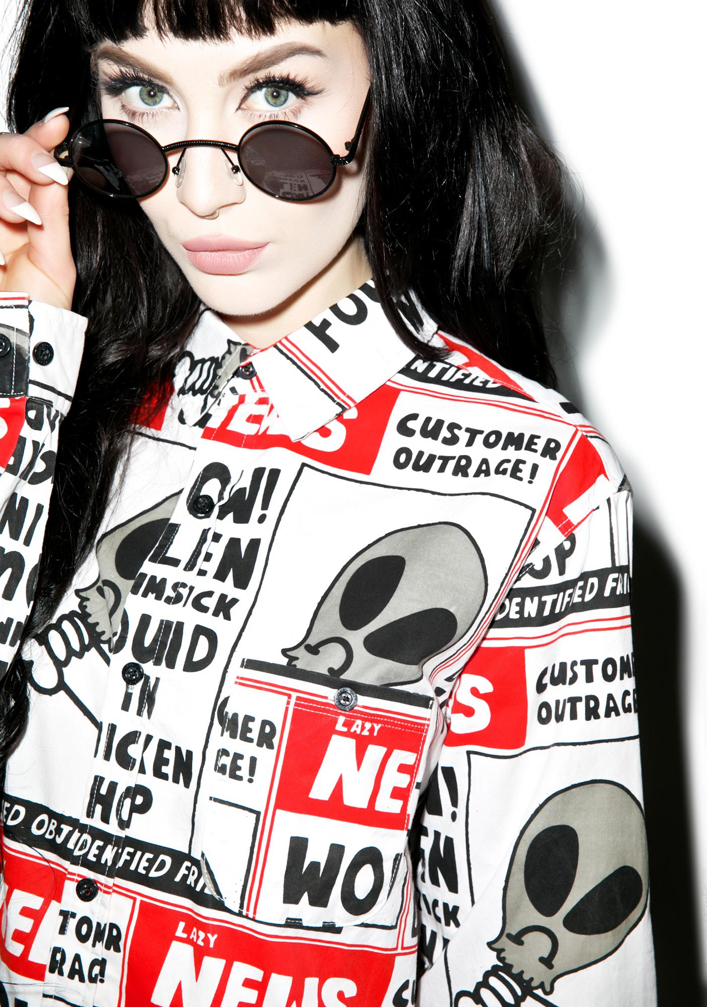 Lazy Oaf Wow Alien Long Sleeve Shirt