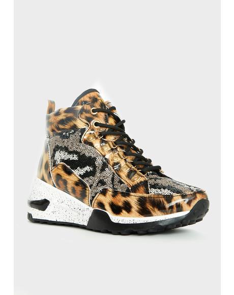 Savage Glamour On High Platform Sneakers