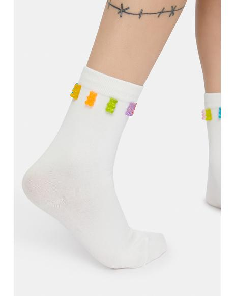Gummy Bear Treats Crew Socks