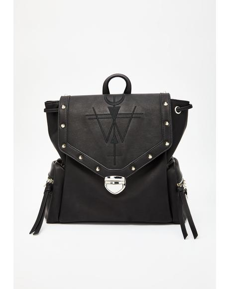 Emblem Of Fate Studded Backpack
