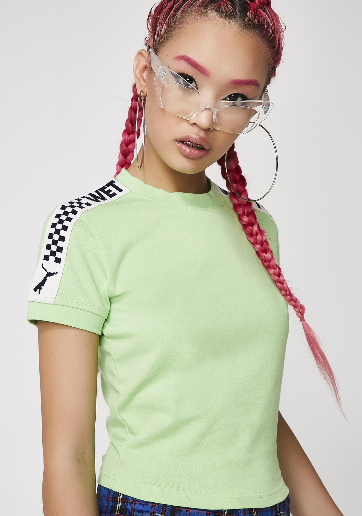 PUMA Gecko FENTY PUMA By Rihanna Short Sleeve Cropped Tee