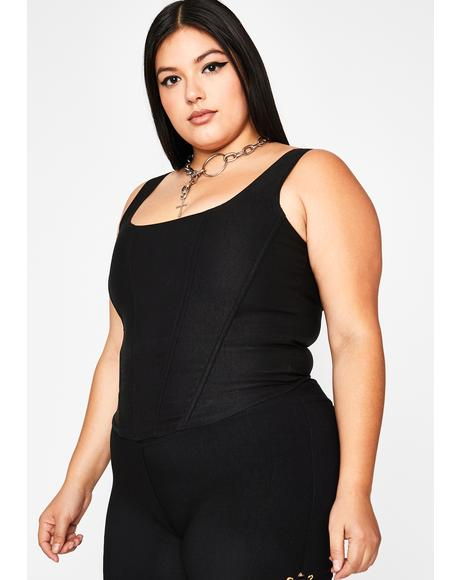 Divine Gothic Hardly Yours Corset Tank