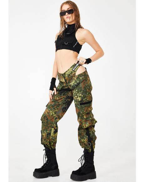 Cut-Out Camo Workwear Pants