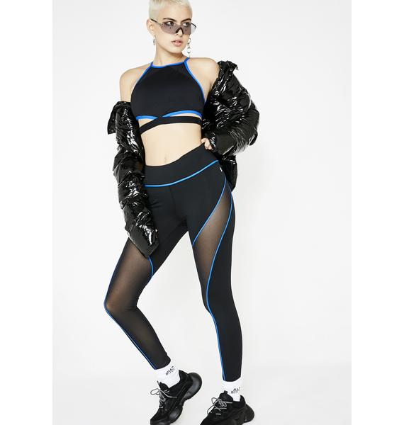 Mesh Exposure Sporty Leggings