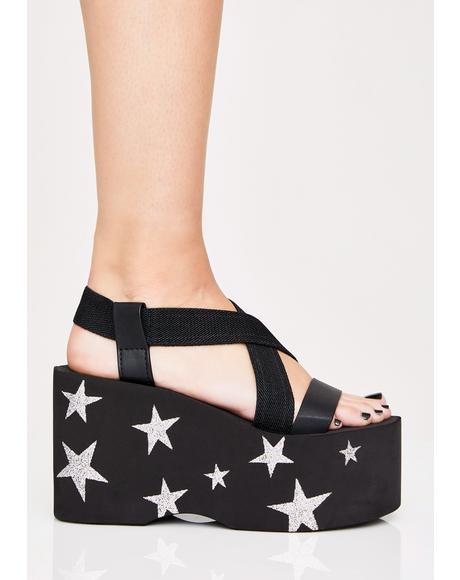 Bayer Starry Night Platform Sandals