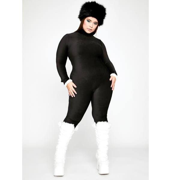 U Can't Fight It Ribbed Catsuit