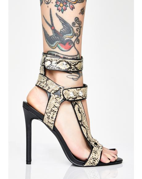 Primal Perfection Snakeskin Heels