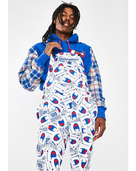 All Over Print Super Fleece 3.0 Overalls