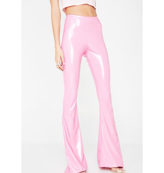 Grayscale Cotton Candy PVC Flare Pants