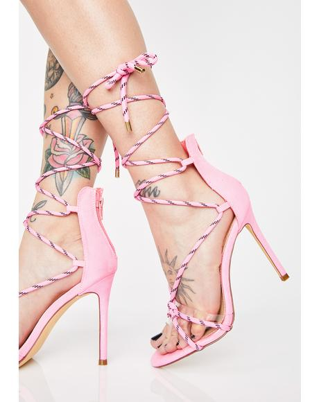 Baddie Reality Rope Heels