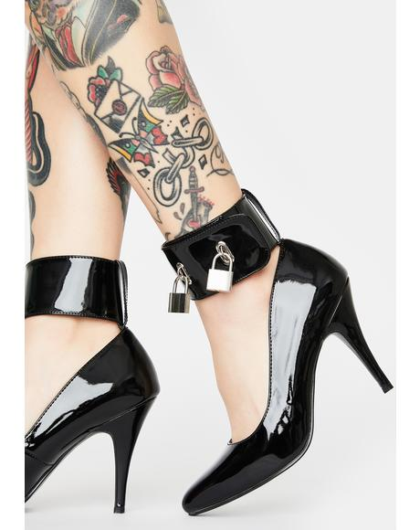 Throw Away The Key Patent Heels