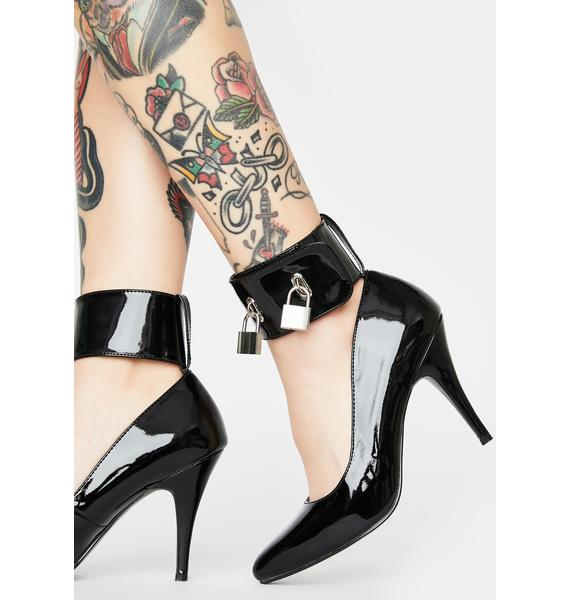 Pleaser Throw Away The Key Patent Heels