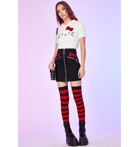 Dolls Kill x Hello Kitty Sugar Coated Threat Mini Skirt