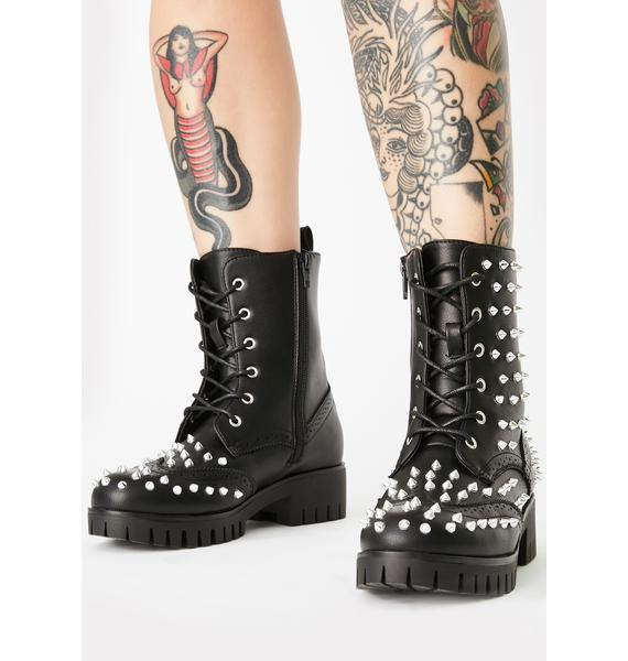 Damned Daredevil Combat Boots