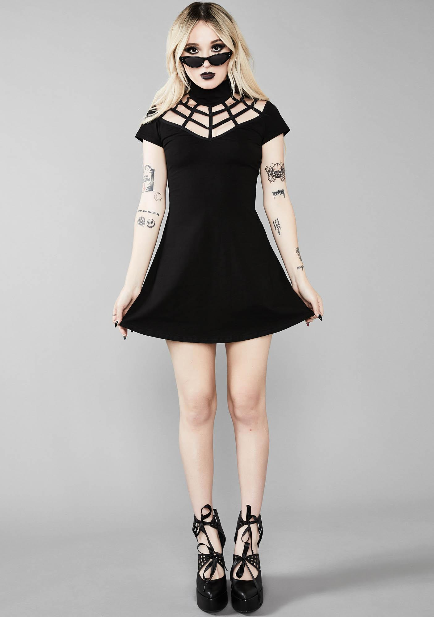 Widow Dark Web A-line Dress