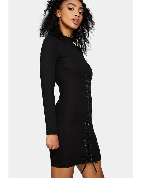 Night Ride The High Lace-Up Bodycon Dress