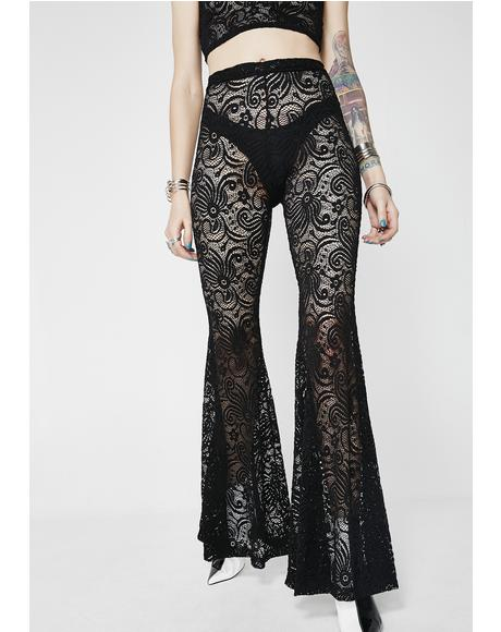 Midnight Cyclone Lace Bell Bottoms