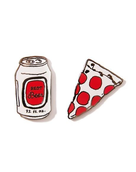 Dinner Time Enamel Pins