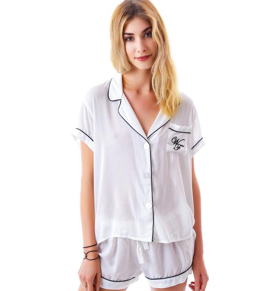 Wildfox Couture Sleep In Late Classic PJ Set